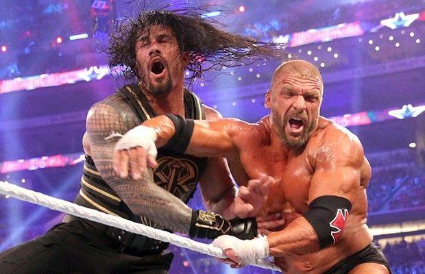 roman reigns vs triple h wrestlemania 32