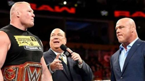 Lesnar is entering WrestleMania 35 as a bigger star than Kurt Angle