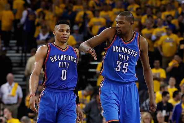 Russell Westbrook and Kevin Durant played major roles during the Thunder