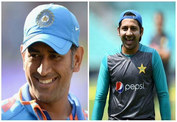 MS Dhoni and Sarfraz Ahmed