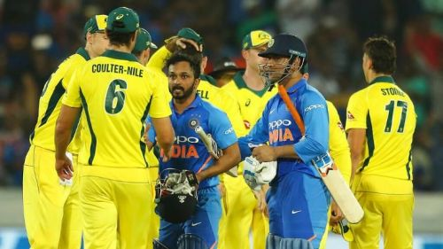India and Australia played a hard-fought series before the World Cup