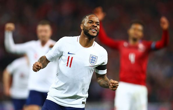 Sterling celebrates a well-deserved hattrick against