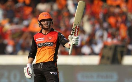 David Warner created many records against RCB at Hyderabad (Picture courtesy: iplt20.com)