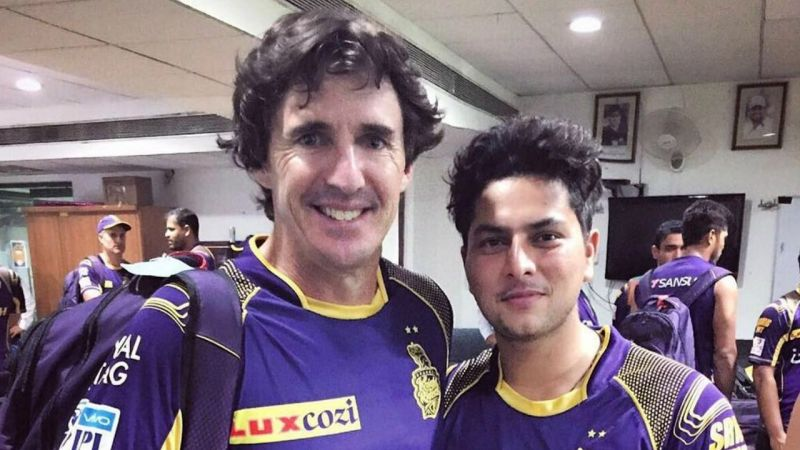 Brad Hogg and Kuldeep Yadav