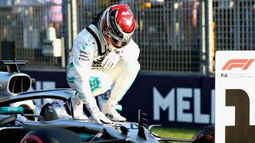 Lewis Hamilton after claiming pole at Albert Park