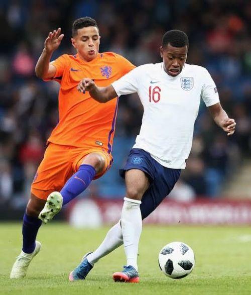 Mohammed Ihattaren in action for Netherlands U-17
