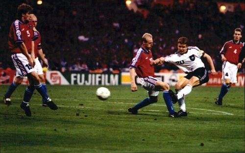The Czech Republic made it to the final of Euro 96, but were beaten by Germany