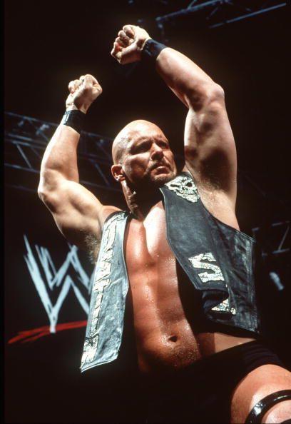 World Wrestling Federation's Wrestler Steve Austin Poses June 12 2000