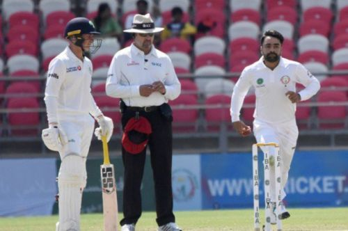 Rashid Khan picks his first 5 wicket haul in Test cricket, against Ireland
