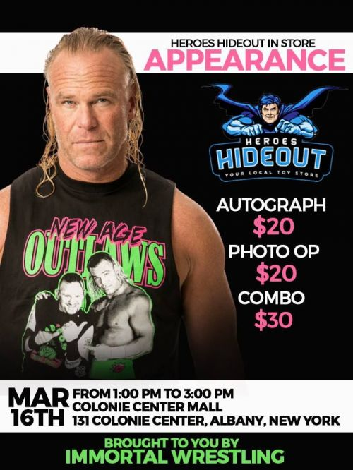 Billy Gunn's Promotional Poster For Meet and Greet