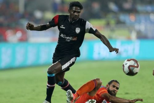 An excellent passer of the ball, Borges connects their impeccable backline with their dynamic frontline and has racked up four goals and two assists in 18 appearances (Image Courtesy: ISL)