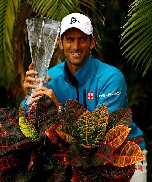 Djokovic with 2016 Miami Open trophy