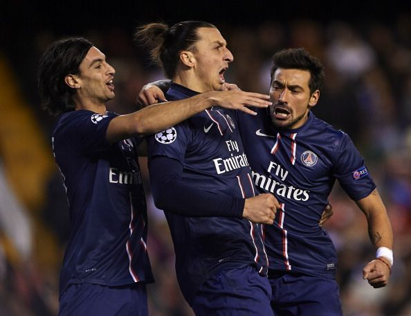 Pastore (left) and Lavezzi (right) were good creative players, but not among Europe