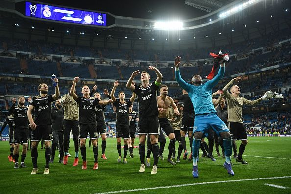Ajax rejoice after eliminating three-time defending champions Real Madrid in the Round of 16 last season