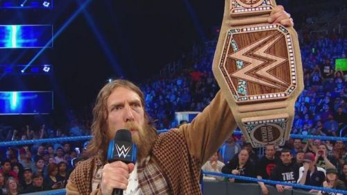 Daniel Bryan with the new WWE title