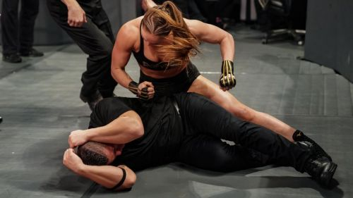 Who will hold Ronda down at WrestleMania?