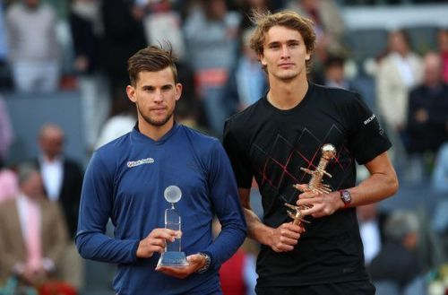 Zverev and Thiem at Madrid Open 2018