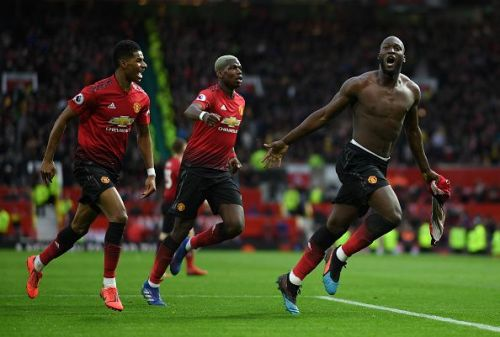 Romelu Lukaku followed by Paul Pogba and Marcus Rashford