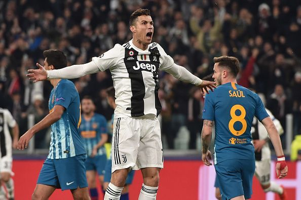 Ronaldo celebrated against Atletico Madrid in the Champions League