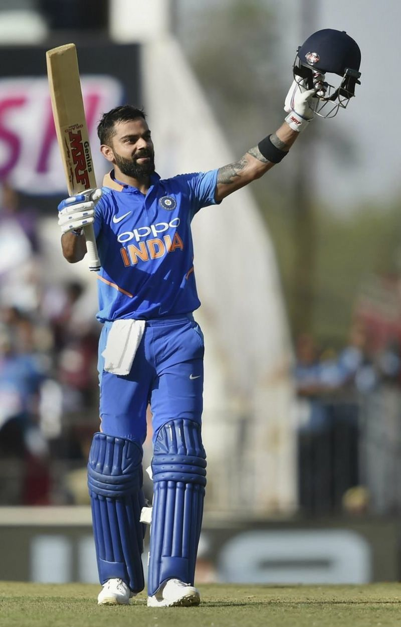 Virat Kohli scored his 40th ODI century.