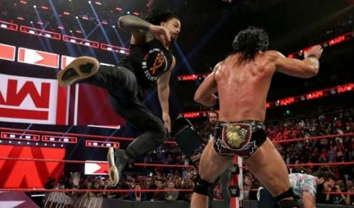 Superman punch to McIntyre!