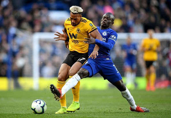 Kante has played in a more advanced role this season compared to the previous ones