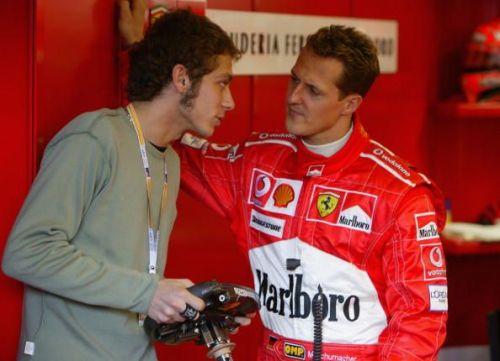 Valentino Rossi & Michael Schumacher  - Australian Grand Prix