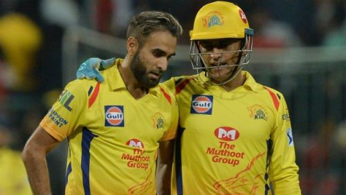 Imran tahir and ms dhoni