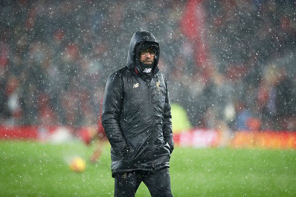 Klopp inexplicably held the snow accountable for his side