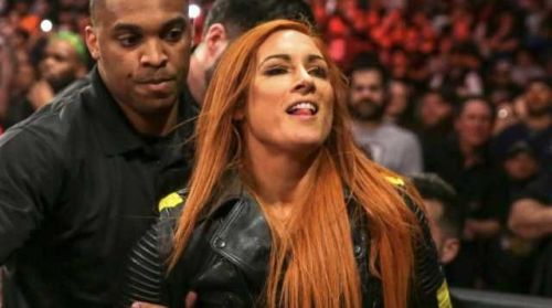 Becky getting arrested on Raw