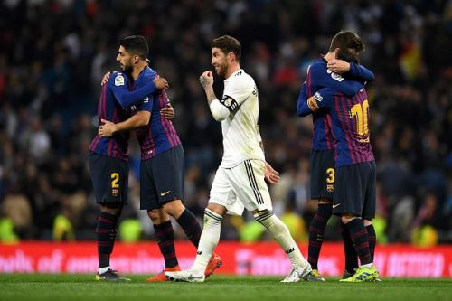 Real Madrid with another disappointing night at the Bernebau against nemesis FC Barcelona. Tonight's loss sees Real slip to 12 points behind FCB and out of the title race