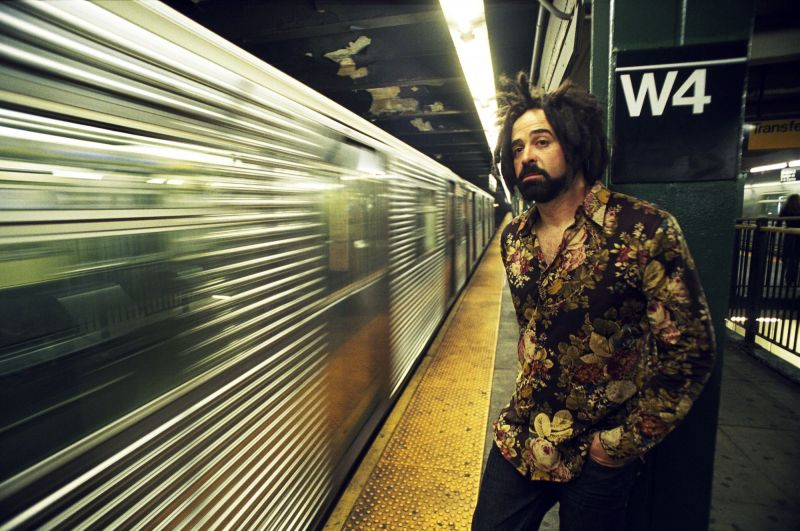 Adam Duritz rides the New York subway / Photo: Danny Clinch