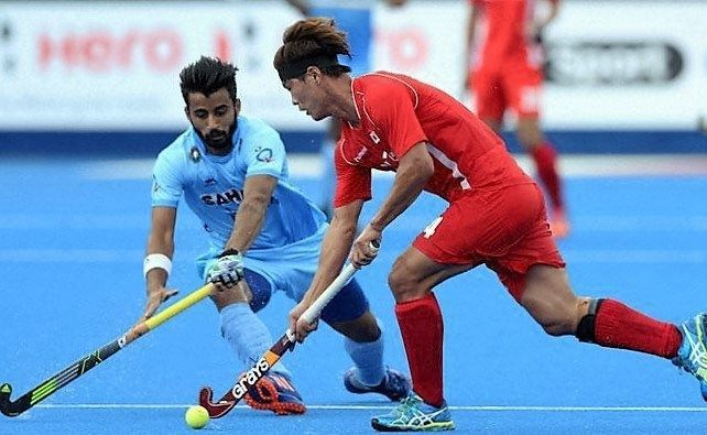 The India and Korea game ends in a thrilling 1-1 draw.