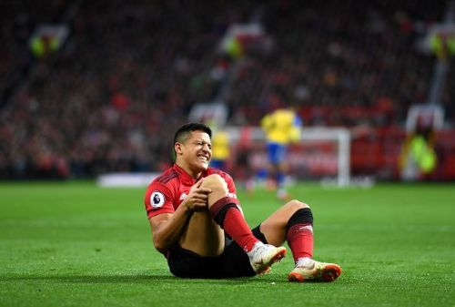 Alexis Sanchez was injured during the weekend