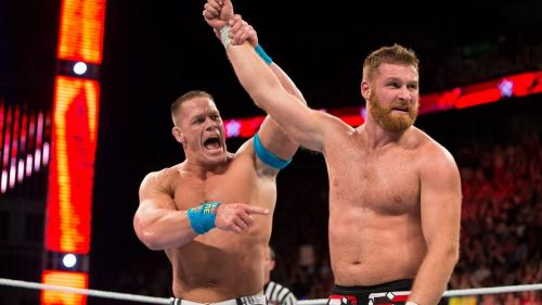 Sami Zayn after losing the United States Open Challenge in his debut match against John Cena.