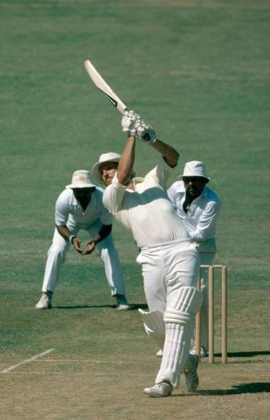 Ian Botham - on his way to a magnificent 114