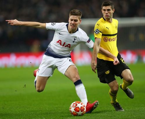 Christian Pulisic in action against Spurs