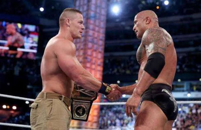 The Rock passed the torch to John Cena at WrestleMania 29!