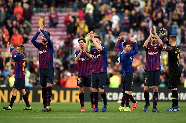 Why change a winning formula? Lenglet and Pique were solid as usual at the back for Barcelona, with Umtiti watching on