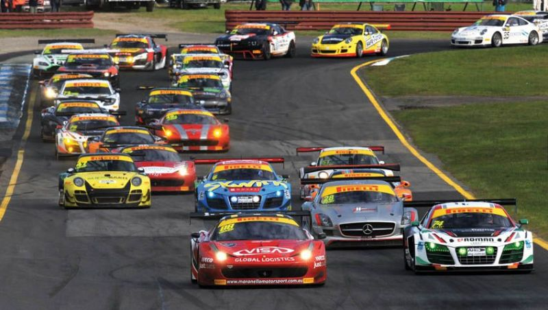 Australian GT cars in action