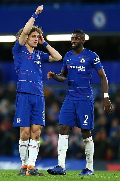 David Luiz and Antonio Rudiger
