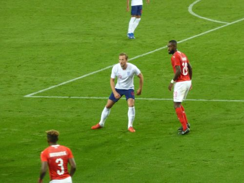 Kane in action against Switzerland earlier this season