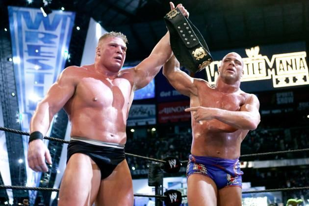 Kurt Angle vs Brock Lesnar at WrestleMania XIX