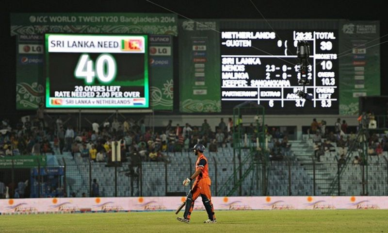 Netherland holds the record of lowest team score in t20