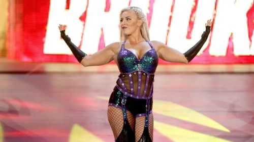 WWE Superstar Dana Brooke makes her way to the ring