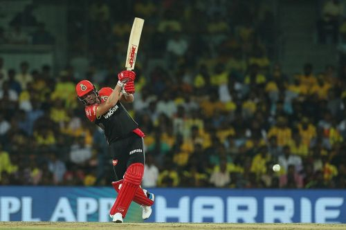AB De Villiers couldn't get going in the match against CSK. (Image Courtesy: IPLT20)