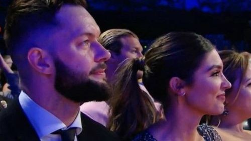 Beauty and the Demon together at the 2018 WWE HOF ceremony