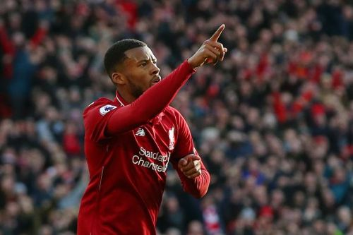 Gini Wijnaldum has greatly impressed in midfield for the Reds this season.