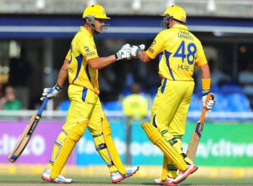 Chennai Super Kings players in action