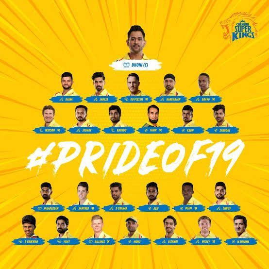 Chennai Super Kings Squad IPL 2019.